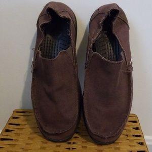 Crocs mens 10 brown slip on